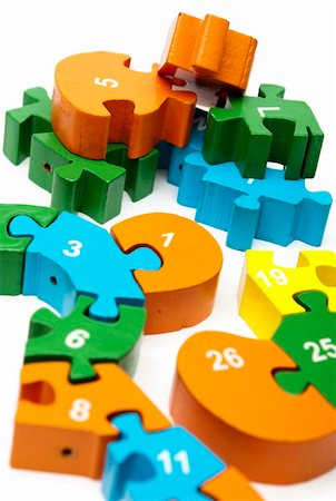 raysay (artist) - wooden puzzle blocks with numbers copy Stock Photo - Budget Royalty-Free & Subscription, Code: 400-04369853
