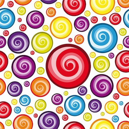 red circle lollipop - Vector Seamless Multicolor  Wallpaper. Stock Photo - Budget Royalty-Free & Subscription, Code: 400-04360103