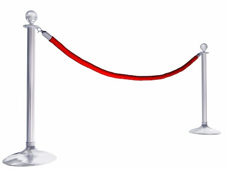 queue club - Isolated illustration of velvet rope and stands Stock Photo - Budget Royalty-Free & Subscription, Code: 400-04362769