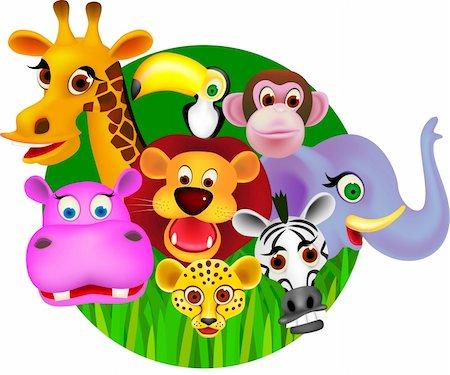 smiling chimpanzee - Animal cartoon vector Stock Photo - Budget Royalty-Free & Subscription, Code: 400-04363133