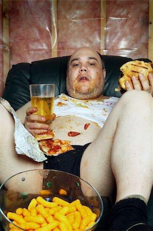 Afbeeldingsresultaat voor fat slob watching tv