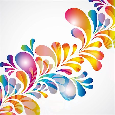 paint dripping abstract pattern - Abstract background with bright teardrop-shaped arches. Stock Photo - Budget Royalty-Free & Subscription, Code: 400-04363449