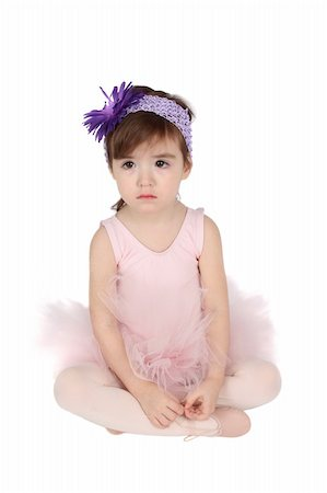 Serious brunette toddler wearing a pink tutu Stock Photo - Budget Royalty-Free & Subscription, Code: 400-04374193