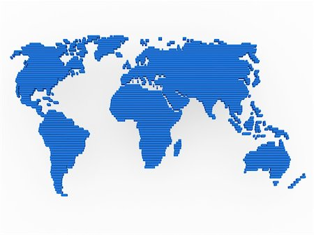 world, map , earth, europe, america, africa, blue Stock Photo - Budget Royalty-Free & Subscription, Code: 400-04374471