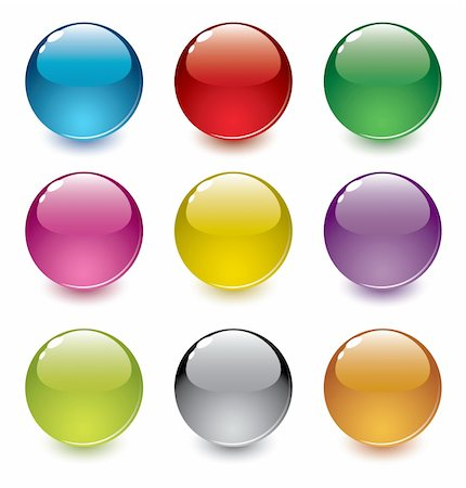 red circle lollipop - Vector illustration of 9 shiny, glossy, realistic, dimensional, colorful spheres; easy to edit Stock Photo - Budget Royalty-Free & Subscription, Code: 400-04375205