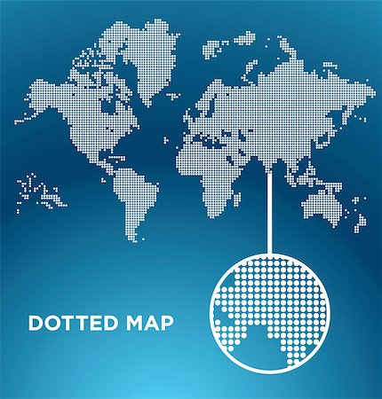 Vector illustration of  dotted World map background, easy to edit Stock Photo - Budget Royalty-Free & Subscription, Code: 400-04375203