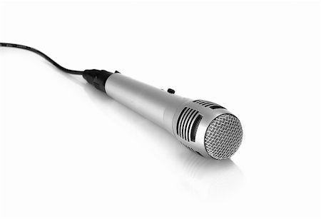 isolated  microphone Stock Photo - Budget Royalty-Free & Subscription, Code: 400-04376595