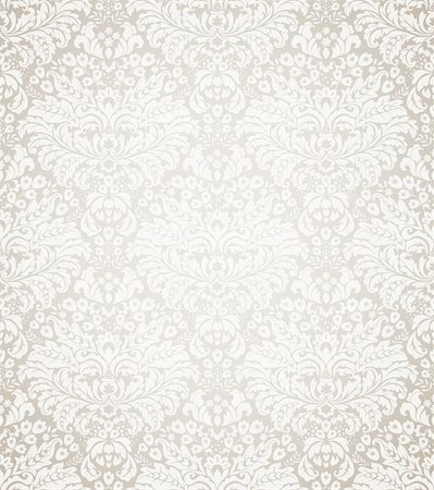 Damask seamless floral pattern. Vintage vector illustration. Stock Photo - Budget Royalty-Free & Subscription, Code: 400-04378583