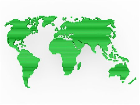 world, map , earth, europe, america, africa, green Stock Photo - Budget Royalty-Free & Subscription, Code: 400-04378701
