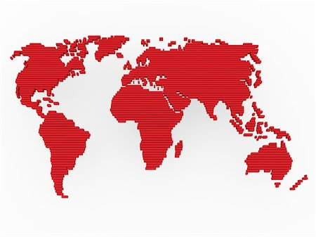 world, map , earth, europe, america, africa, red Stock Photo - Budget Royalty-Free & Subscription, Code: 400-04379442
