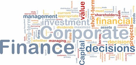 Background concept wordcloud illustration of  corporate finance Stock Photo - Budget Royalty-Free & Subscription, Code: 400-04371378