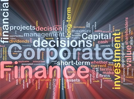 Background concept wordcloud illustration of  corporate finance glowing light Stock Photo - Budget Royalty-Free & Subscription, Code: 400-04371416