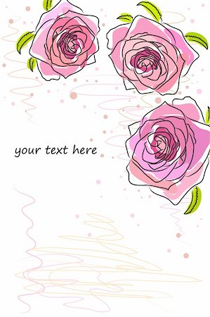 flores - beautiful Floral vector background (flowers on white) Stock Photo - Budget Royalty-Free & Subscription, Code: 400-04371831