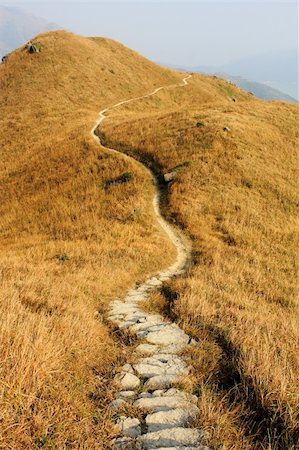mountain path and yellow grass Stock Photo - Budget Royalty-Free & Subscription, Code: 400-04372168