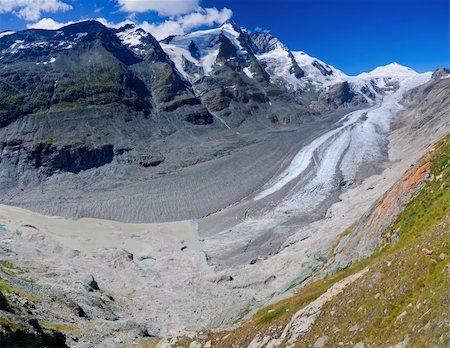 franxyz - Glacier on Grossglockner, summer in Austria. Panorama Stock Photo - Budget Royalty-Free & Subscription, Code: 400-04372872