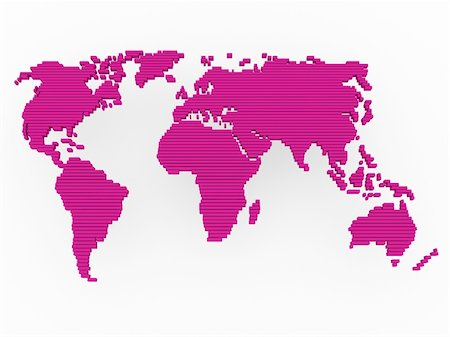 world, map , earth, europe, america, africa, pink Stock Photo - Budget Royalty-Free & Subscription, Code: 400-04373555