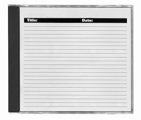 cd cover with space for your notes, isolated on white Stock Photo - Budget Royalty-Free & Subscription, Code: 400-04384033