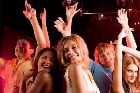 pressmaster - Image of happy young people having fun at disco Stock Photo - Budget Royalty-Free & Subscription, Code: 400-04386270