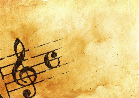 sheet music background - Abstract grunge melody textures and backgrounds with space Stock Photo - Budget Royalty-Free & Subscription, Code: 400-04386842