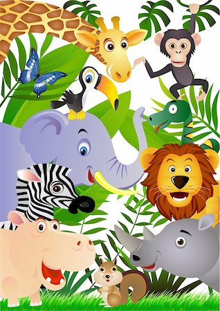 vector illustration of animal cartoon Stock Photo - Budget Royalty-Free & Subscription, Code: 400-04386987