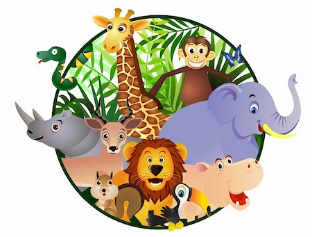 Wild animal cartoon Stock Photo - Budget Royalty-Free & Subscription, Code: 400-04386989