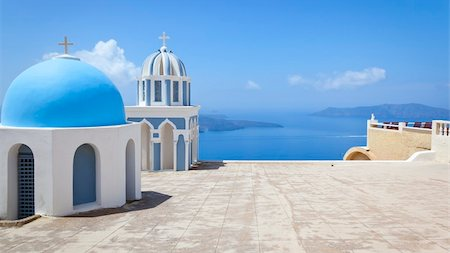 An image of a nice Santorini view with church Stock Photo - Budget Royalty-Free & Subscription, Code: 400-04387004