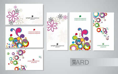 colored business cards on a white background, set horizontal and vertical Stock Photo - Budget Royalty-Free & Subscription, Code: 400-04387735