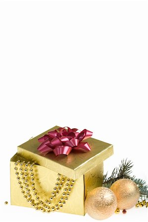 simsearch:400-05749231,k - Christmas still-life over white background Stock Photo - Budget Royalty-Free & Subscription, Code: 400-04387990