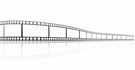 film strip - illustration of a film strip with reflection Stock Photo - Budget Royalty-Free & Subscription, Code: 400-04388401
