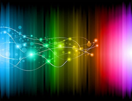 Abstract Futuristic Rainbow Lights Background for Poster of Flyers Stock Photo - Budget Royalty-Free & Subscription, Code: 400-04388848