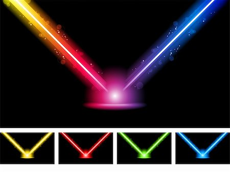 Vector - Laser Neon Colorful Lights Stock Photo - Budget Royalty-Free & Subscription, Code: 400-04380445