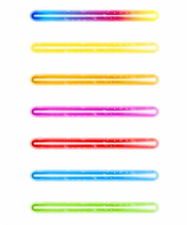 rainbow smoke background - Vector - Laser Neon Colorful Lights on White Background Stock Photo - Budget Royalty-Free & Subscription, Code: 400-04380447