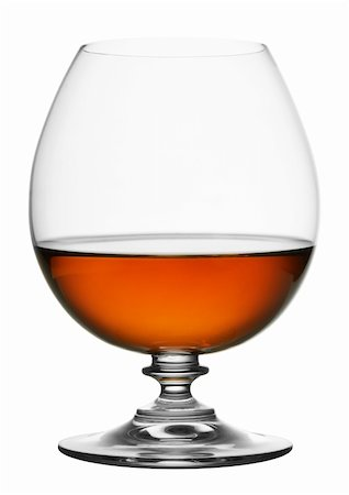 glass of cognac isolated on white background Stock Photo - Budget Royalty-Free & Subscription, Code: 400-04382498