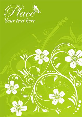 filigree designs in trees and insects - Flower frame with butterfly, element for design, vector illustration Stock Photo - Budget Royalty-Free & Subscription, Code: 400-04382737