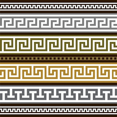 elakwasniewski (artist) - Collection of antique greek borders, full scalable vector graphic for easy editing and color change. Stock Photo - Budget Royalty-Free & Subscription, Code: 400-04394389