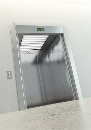 modern elevator with open doors Stock Photo - Budget Royalty-Free & Subscription, Code: 400-04397451