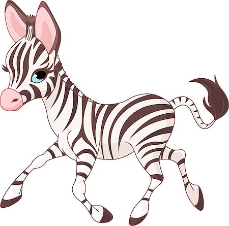Illustration of cute  running   baby Zebra Stock Photo - Budget Royalty-Free & Subscription, Code: 400-04397652