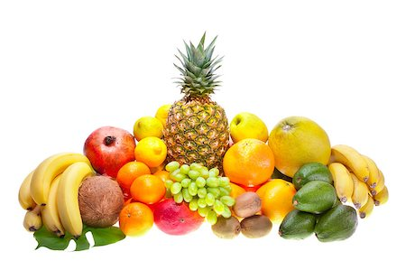 Assortment of fresh fruits Stock Photo - Budget Royalty-Free & Subscription, Code: 400-04399459
