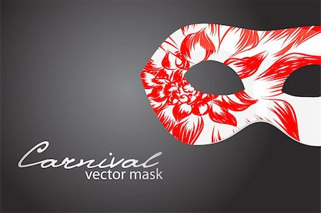 Carnival mask on dark background Stock Photo - Budget Royalty-Free & Subscription, Code: 400-04390517