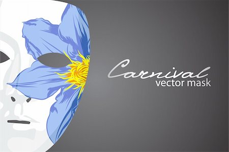 Carnival mask on dark background Stock Photo - Budget Royalty-Free & Subscription, Code: 400-04390518