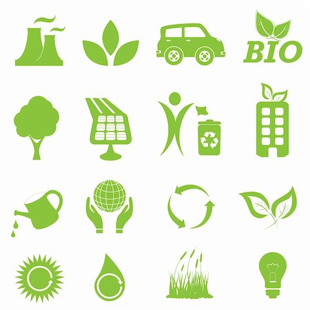 soleilc (artist) - Ecology and clean environment icon set Stock Photo - Budget Royalty-Free & Subscription, Code: 400-04390520