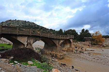The Old Concrete Bridge, Destroyed by Flooding on the Island of Rhodes Stock Photo - Budget Royalty-Free & Subscription, Code: 400-04392234