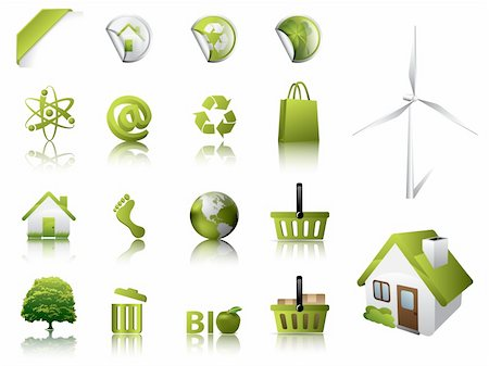 Eco Design Elements and Icons Stock Photo - Budget Royalty-Free & Subscription, Code: 400-04392272