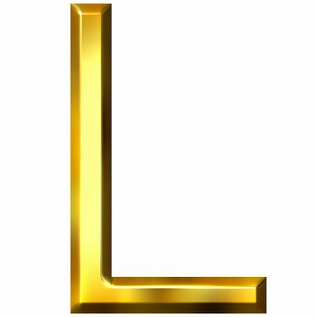 fancy letters - 3d golden letter L isolated in white Stock Photo - Budget Royalty-Free & Subscription, Code: 400-04392766