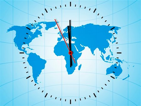 An image of a nice world clock Stock Photo - Budget Royalty-Free & Subscription, Code: 400-04393599