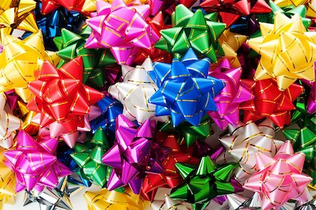 Large heap of colorful decorative bows Stock Photo - Budget Royalty-Free & Subscription, Code: 400-04393703