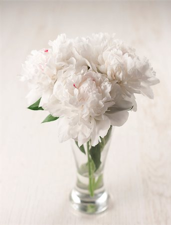 peonies background - Vase of beautiful peony flowers on wooden background Stock Photo - Budget Royalty-Free & Subscription, Code: 400-04406239