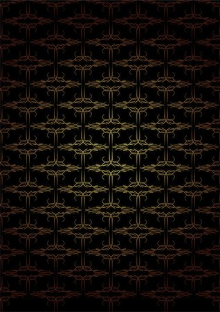 Vintage Wallpaper - Golden Ornaments on Black Background Stock Photo - Budget Royalty-Free & Subscription, Code: 400-04407416