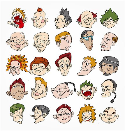 cute cartoon face Stock Photo - Budget Royalty-Free & Subscription, Code: 400-04407941