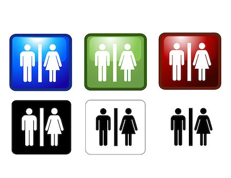 vector illustration of Women's and Men's Toilets Stock Photo - Budget Royalty-Free & Subscription, Code: 400-04408089